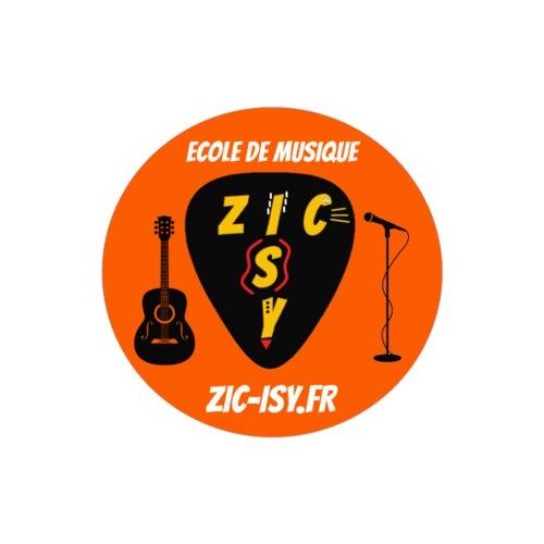 Zic izy ecole de musique orange - Autocollant