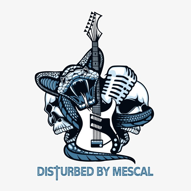 Chitarra elettrica, teschi, serpente by Mescal
