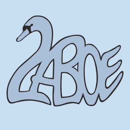 Laboe Schwan graublau - Sticker