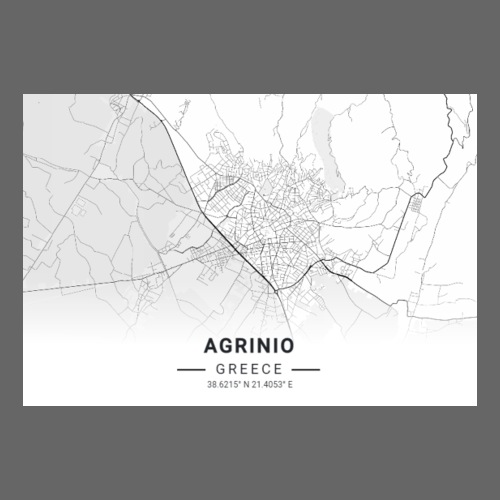 Agrinio map - Sticker