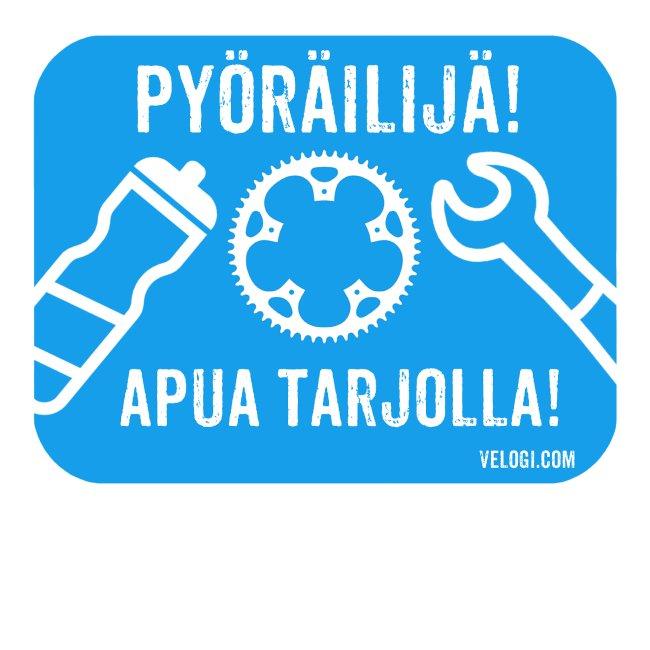 Pyöräilijä - apua tarjolla! Tilaa lisätiedoille.