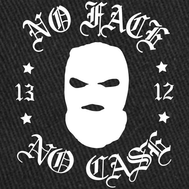 No Face, No Case - Skimask - valkoinen iso printti