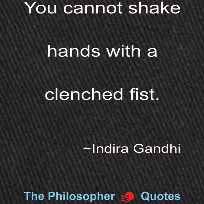Indira Gandhi Shake hands Philosopher w