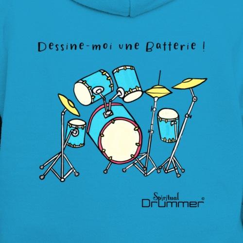 Luigi Drum - Kids' Contrast Hoodie