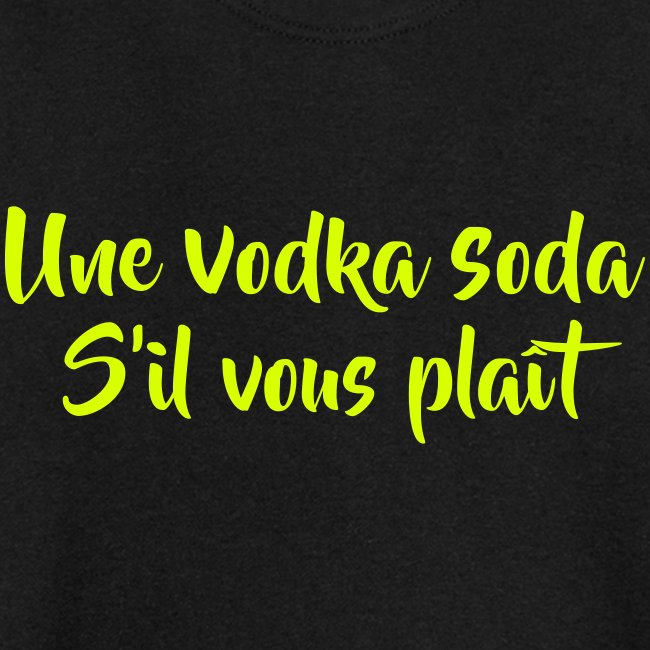 une vodka soda