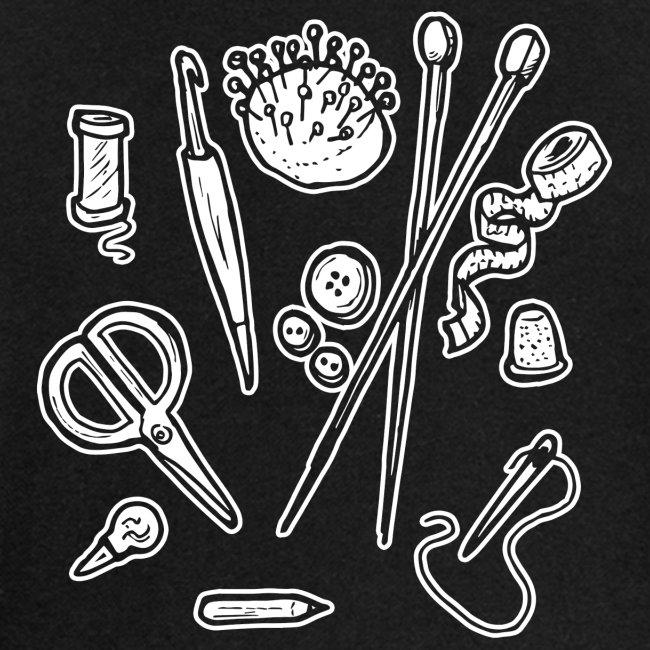 Handarbeiten lustiges Hobby Werkzeuge Geschenk
