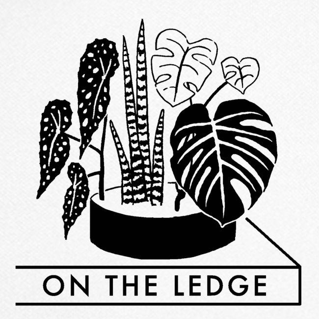 On The Ledge black and white logo