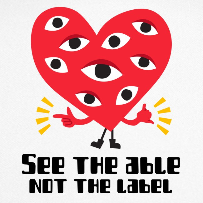 Mascarilla Corazón | See The Able Not the Label