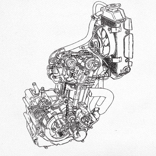 nx250 motorblok transparant