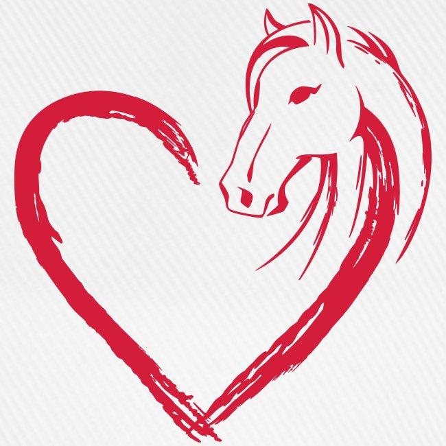 Vorschau: Pferde Herz - Baseballkappe