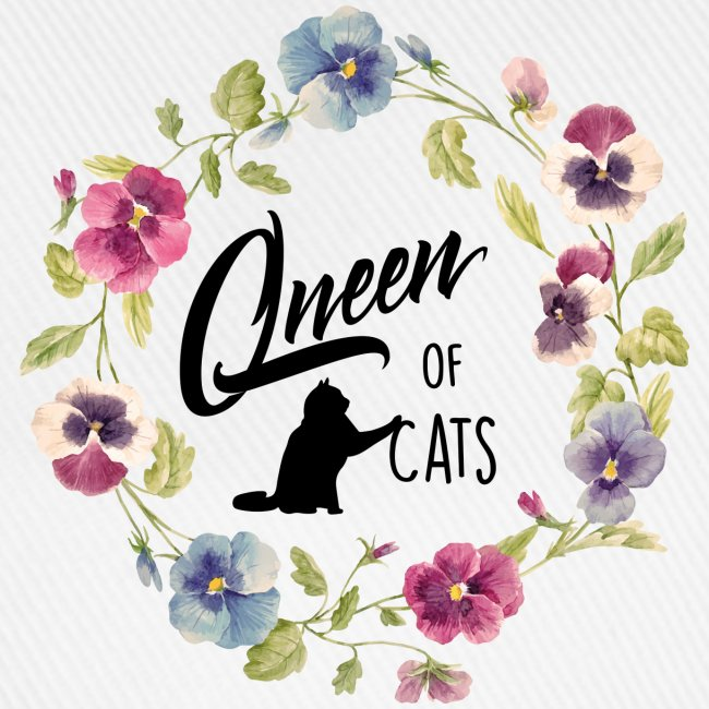 Vorschau: queen of cats - Baseballkappe