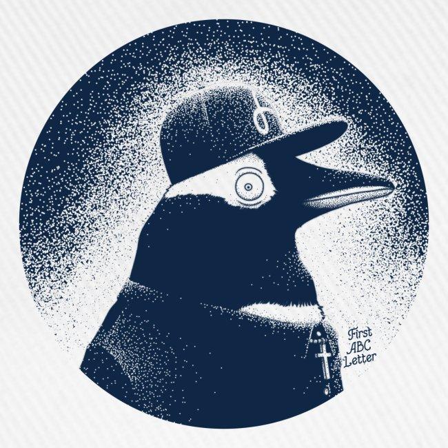 Pinguin dressed in black