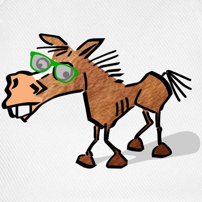 Shirtee lustiges Appaloosa Pferd Comic Cartoon mit langen Henkeln Jutebeutel