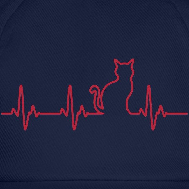 Vorschau: Ein Herz für Katzen - Baseballkappe