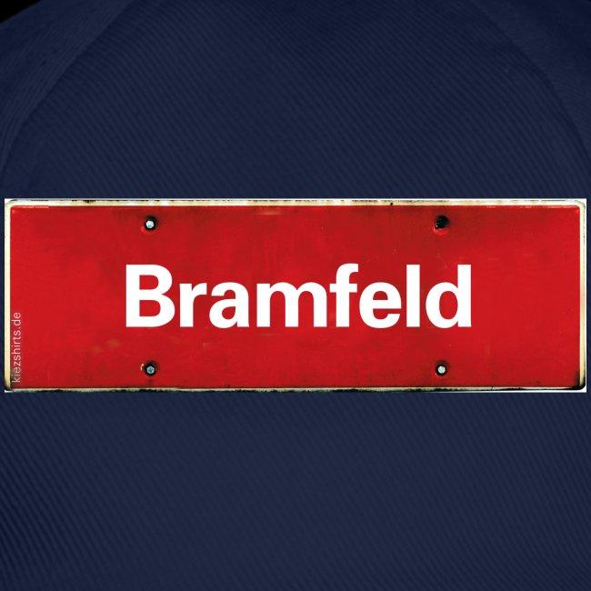 HAMBURG Bramfeld rotes Ortsschild antik