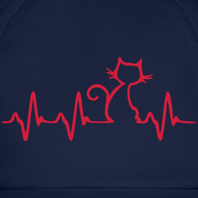 Cat Heartbeat - Baseballkappe