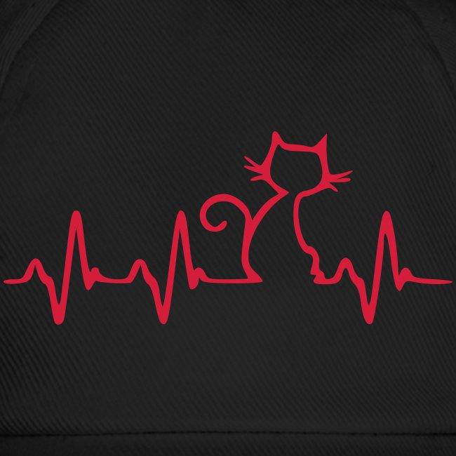 Vorschau: Cat Heartbeat - Baseballkappe