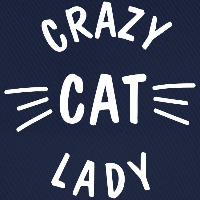 Vorschau: Crazy Cat Lady meow - Baseballkappe