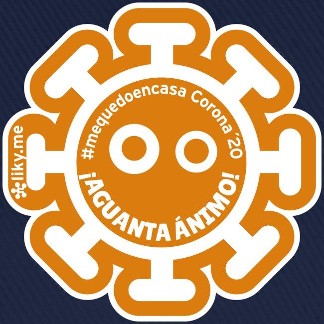 Corona Virus #mequedoencasa naranja