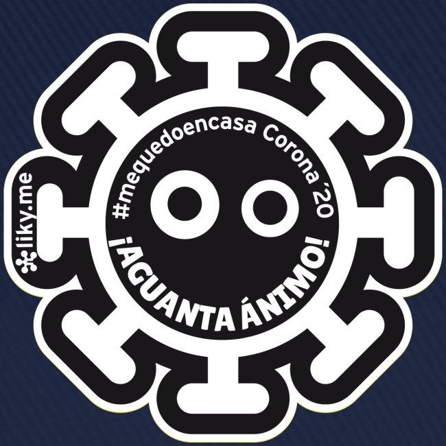 Corona Virus #mequedoencasa negro