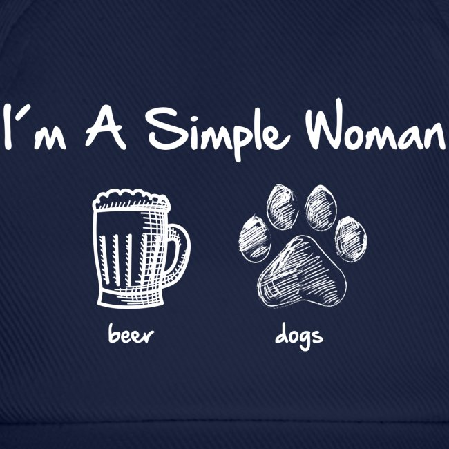 Vorschau: simple woman beer white - Baseballkappe