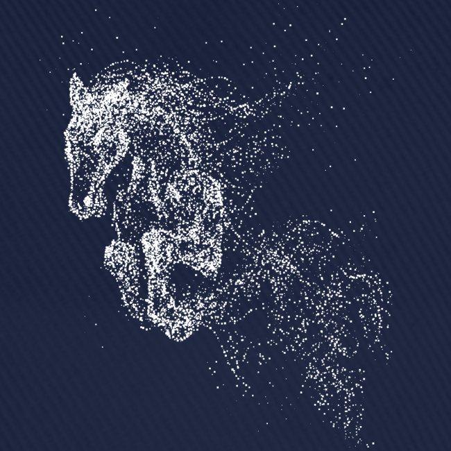 Vorschau: jumping horse white - Baseballkappe