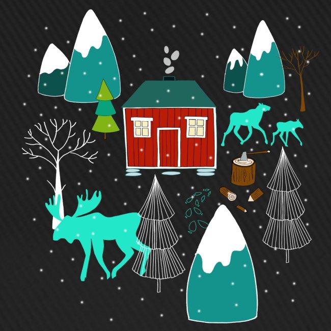 Weihnachten Elch I Geschenk Winterstimmung