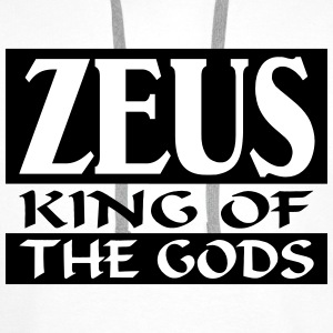 Zeus _-_ King_Of_The_Gods - Bluza męska Premium z kapturem