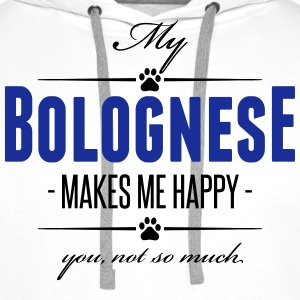 My Bolognese makes me happy - Männer Premium Hoodie