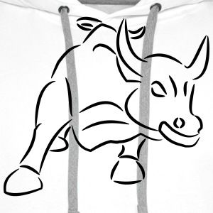 Bull Ride the Bull Bull Market - Premium hettegenser for menn