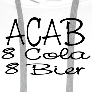 ACAB - eight Cola eight beer - Men's Premium Hoodie