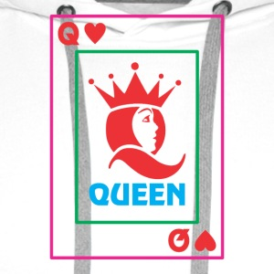 QUEEN playing card - Men's Premium Hoodie