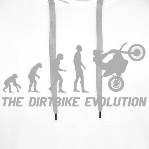 Dirtbike Evolution Gray - Premiumluvtröja herr