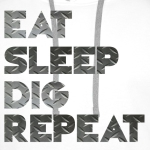 Spis Sleep Dig Repeat - Premium hettegenser for menn