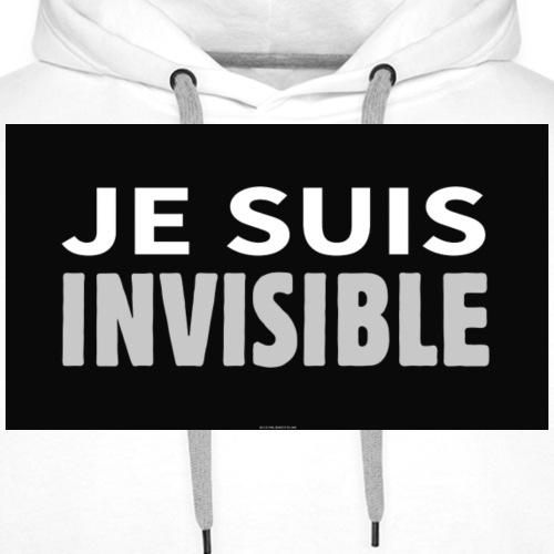 je suis invisible - Sweat-shirt à capuche Premium pour hommes