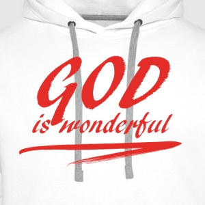 God_is_wonderful - Premium hettegenser for menn