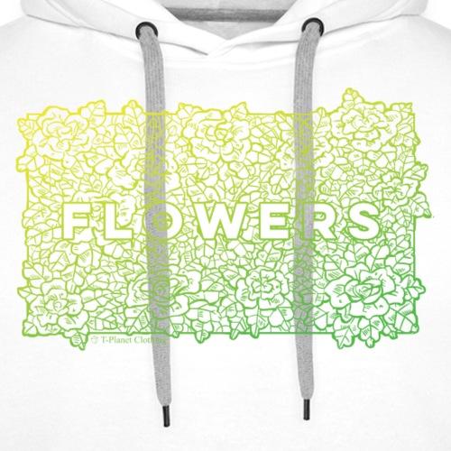 Flowers Green - Felpa con cappuccio premium da uomo