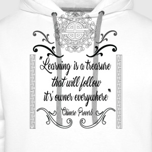 Learning is a treasure - Men's Premium Hoodie