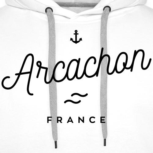 Arcachon - France - Sweat-shirt à capuche Premium pour hommes