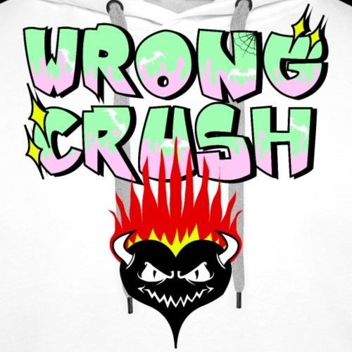 WRONG CRUSH - Sudadera con capucha premium para hombre