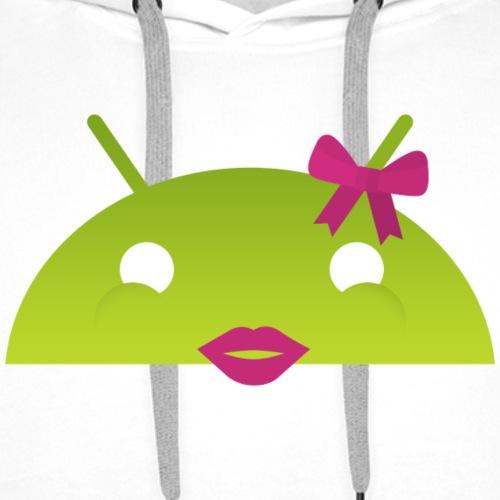 logo android femme - Sweat-shirt à capuche Premium pour hommes