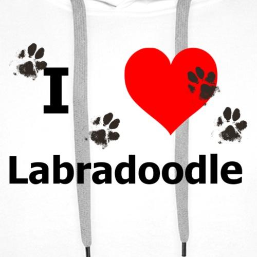 i Love Labradoodle - Männer Premium Hoodie