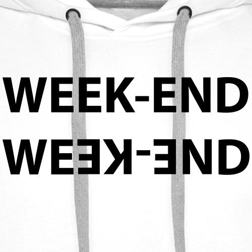 WEEK END - Sweat-shirt à capuche Premium pour hommes