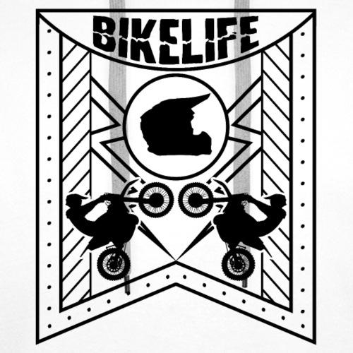 Bikelife Flag Black - Premiumluvtröja herr