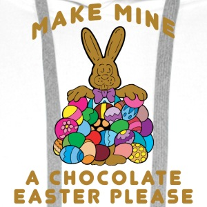 Easter Make Mine A Chocolate Easter Please - Men's Premium Hoodie