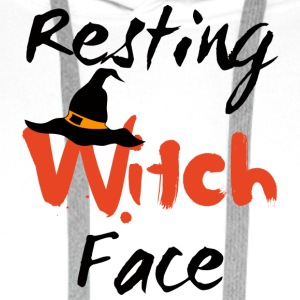 Halloween: Resting Witch Face - Men's Premium Hoodie