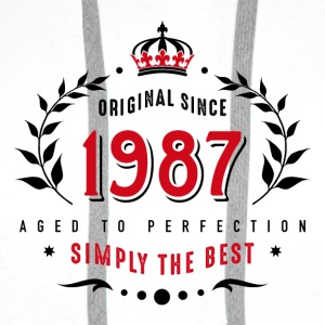 original since 1987 simply the best 30th birthday - Men's Premium Hoodie