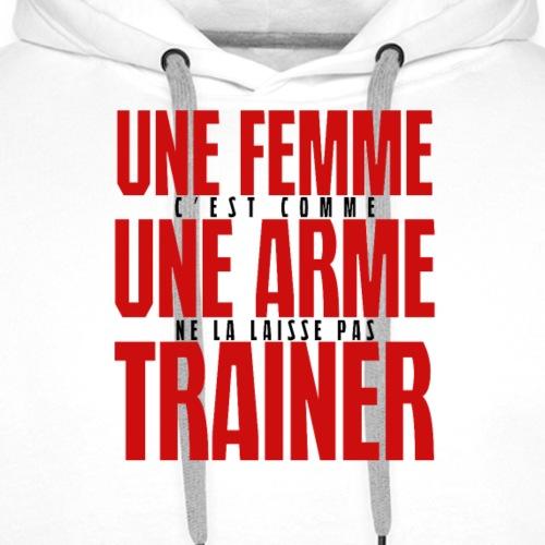 une femme cest comme.png - Sweat-shirt à capuche Premium pour hommes