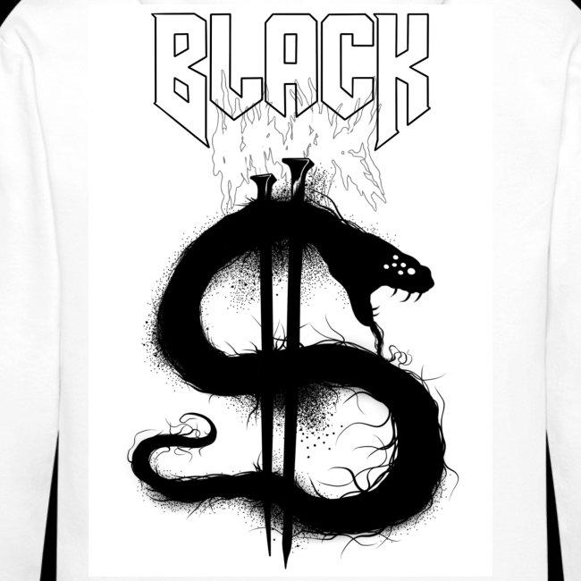Black ink shadow snake
