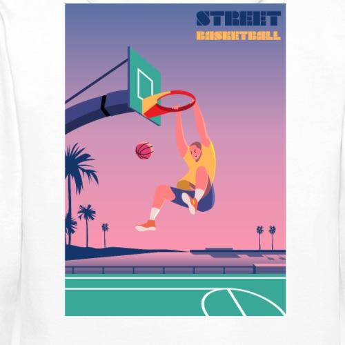 Street Basketball - Sweat-shirt à capuche Premium pour hommes